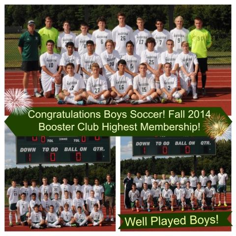 Congrats Boys Soccer 2014