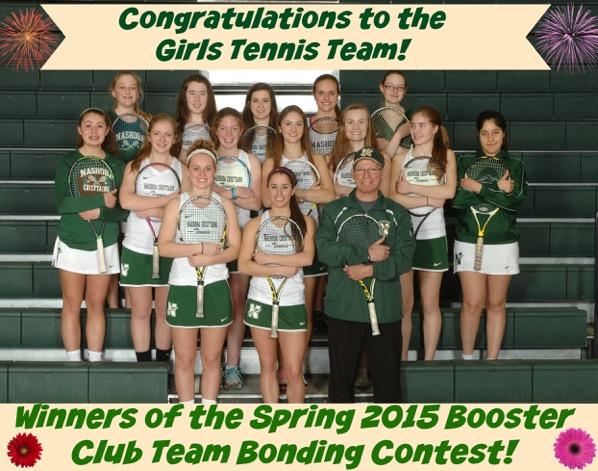 Girls Tennis Spring 2015 winners